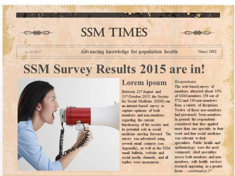 Survey results newspaper