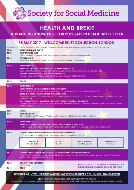Health and Brexit One Day Event 18 May 2017